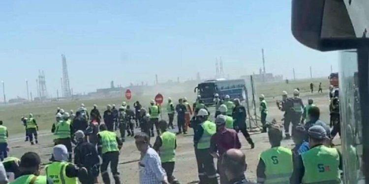Конфликт на Тенгизе: установлены подозреваемые, один из них задержан